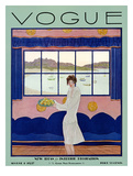 Vogue Cover - August 1927 Giclee Print by Georges Lepape