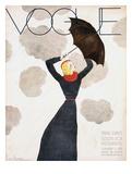 Vogue Cover - February 1933 - Umbrella Weather Regular Giclee Print van Georges Lepape