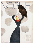 Vogue Cover - February 1933 - Umbrella Weather Regular Giclee Print by Georges Lepape