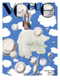 Vogue Cover - January 1932 - Clouds and Bubbles Regular Giclee Print by Georges Lepape