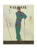 Vogue - December 1928 Regular Giclee Print by Pierre Pagès