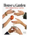 House & Garden Cover - November 1950 Giclee Print by Herbert Matter