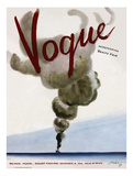 Vogue Cover - December 1936 Regular Giclee Print by Jean Pagès