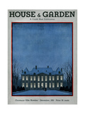 House & Garden Cover - December 1931 Giclee Print by André E. Marty