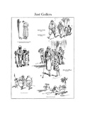 The American Golfer Cartoon November 29, 1924 Giclee Print