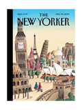 The New Yorker Cover - April 20, 2009 Giclee Print by Jacques de Loustal