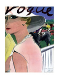 "Vogue Cover - April 1933 Regular Giclee Print by Carl ""Eric"" Erickson"