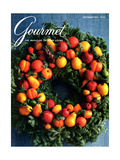 Gourmet Cover - December 1984 Regular Giclee Print by Romulo Yanes