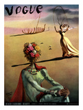 Vogue Cover - June 1939 - Dali's Dreams Regular Giclee Print tekijänä Salvador Dalí