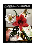 House & Garden Cover - October 1934 Giclee Print by Edna Reindel