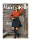 Mademoiselle Cover - August 1954 Regular Giclee Print by Herman Landshoff