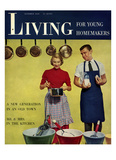Living for Young Homemakers Cover - October 1950 Regular Giclee Print by Philippe Halsman