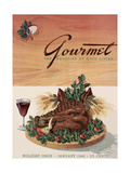 Gourmet Cover - January 1941 Regular Giclee Print by Henry Stahlhut