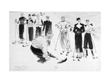 Vogue - December 1936 Regular Giclee Print by René Bouét-Willaumez