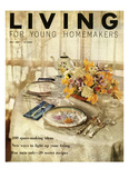 Living for Young Homemakers Cover - May 1956 Regular Giclee Print by Luis Lemus