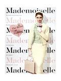 Mademoiselle Cover - February 1955 Regular Giclee Print by George Barkentin