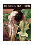 House & Garden Cover - October 1935 Giclee Print by Edna Reindel