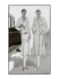 Vogue - January 1930 Regular Giclee Print by Polly Tigue Francis