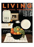 Living for Young Homemakers Cover - April 1953 Regular Giclee Print by Ernest Silva