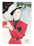 "Vogue Cover - April 1934 Regular Giclee Print by Carl ""Eric"" Erickson"
