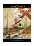 House & Garden Cover - October 1917 Regular Giclee Print by Charles Livingston Bull