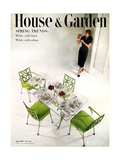 House & Garden Cover - April 1951 Giclee Print by Herbert Matter