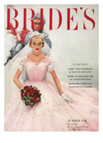 Brides Cover - April, 1954 Regular Giclee Print by William Helburn