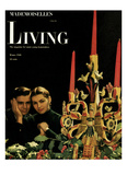 Living for Young Homemakers Cover - December 1948 Regular Giclee Print by Herman Landshoff