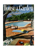 House & Garden Cover - July 1957 Regular Giclee Print by Georges Braun