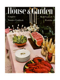 House & Garden Cover - June, 1954 Reproduction procédé giclée par William Grigsby