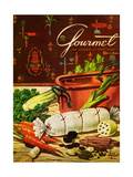 Gourmet Cover - April 1954 Regular Giclee Print by Henry Stahlhut