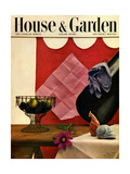 House & Garden Cover - March 1949 Premium Giclee Print by John Rawlings