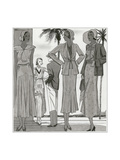 Vogue - January 1931 Regular Giclee Print by Pierre Mourgue