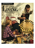 Living for Young Homemakers Cover - April 1949 Regular Giclee Print by Herman Landshoff