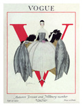Vogue Cover - September 1920 - Wrapped in Feathers Giclee Print by Georges Lepape