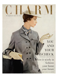 Charm Cover - February 1953 Reproduction proc&#233;d&#233; gicl&#233;e par Maria Martel