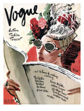 Vogue Cover - July 1941 - Summer Reading Regular Giclee Print by René Bouét-Willaumez