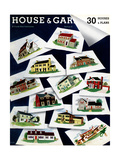 House & Garden Cover - February 1938 Regular Giclee Print by Robert Harrer