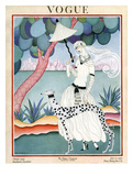 Vogue Cover - January 1922 - Dalmation Walk Giclee Print by Helen Dryden