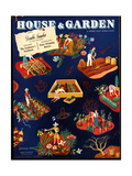 House & Garden Cover - January 1941 Giclee Print by Ilonka Karasz
