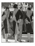 Vogue - November 1927 Regular Giclee Print by Pierre Mourgue