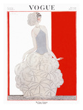 Vogue Cover - November 1922 Regular Giclee Print by Georges Lepape