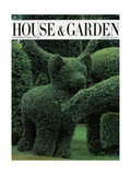 House & Garden Cover - December 1983 Giclee Print by Horst P. Horst