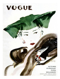 Vogue Cover - August 1935 Regular Giclee Print by René Bouét-Willaumez