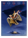 Vogue Cover - February 1938 - Freedom Regular Giclee Print by  Bobri