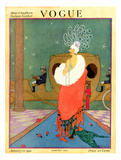 Vogue Cover - January 1918 Regular Giclee Print by Helen Dryden