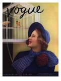 Vogue Cover - January 1935 Regular Giclee Print by Edward Steichen