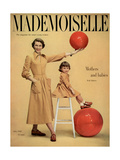 Mademoiselle Cover - July 1949 Regular Giclee Print by Herman Landshoff