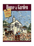 House & Garden Cover - August 1939 Giclee Print by Pierre Brissaud