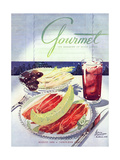 Gourmet Cover - August 1950 Regular Giclee Print by Henry Stahlhut
